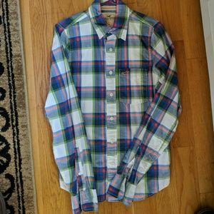 Men's Small Hollister Plaid Button Down Shirt